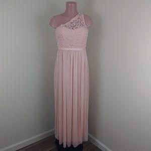 David's Bridal Wedding Long Dress One Shoulder
